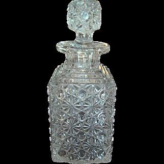 Antique 1883 Elson Glass Daisy & Button Perfume Decanter