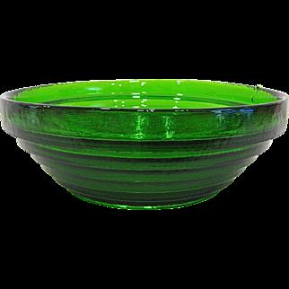 Blenko Green Stepped Glass Bowl