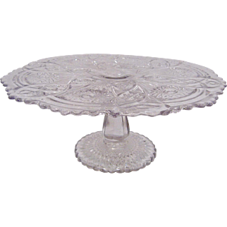 Imperial Glass Large Pedestal Cake Stand