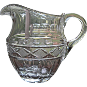 Early 1800s Cut Glass Water Pitcher