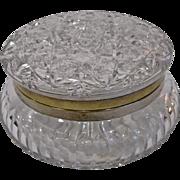 Large C F Monroe Rich Cut Glass Jewelry Box