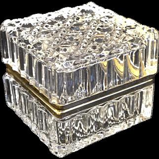 Lovely Crystal Jewelry Casket