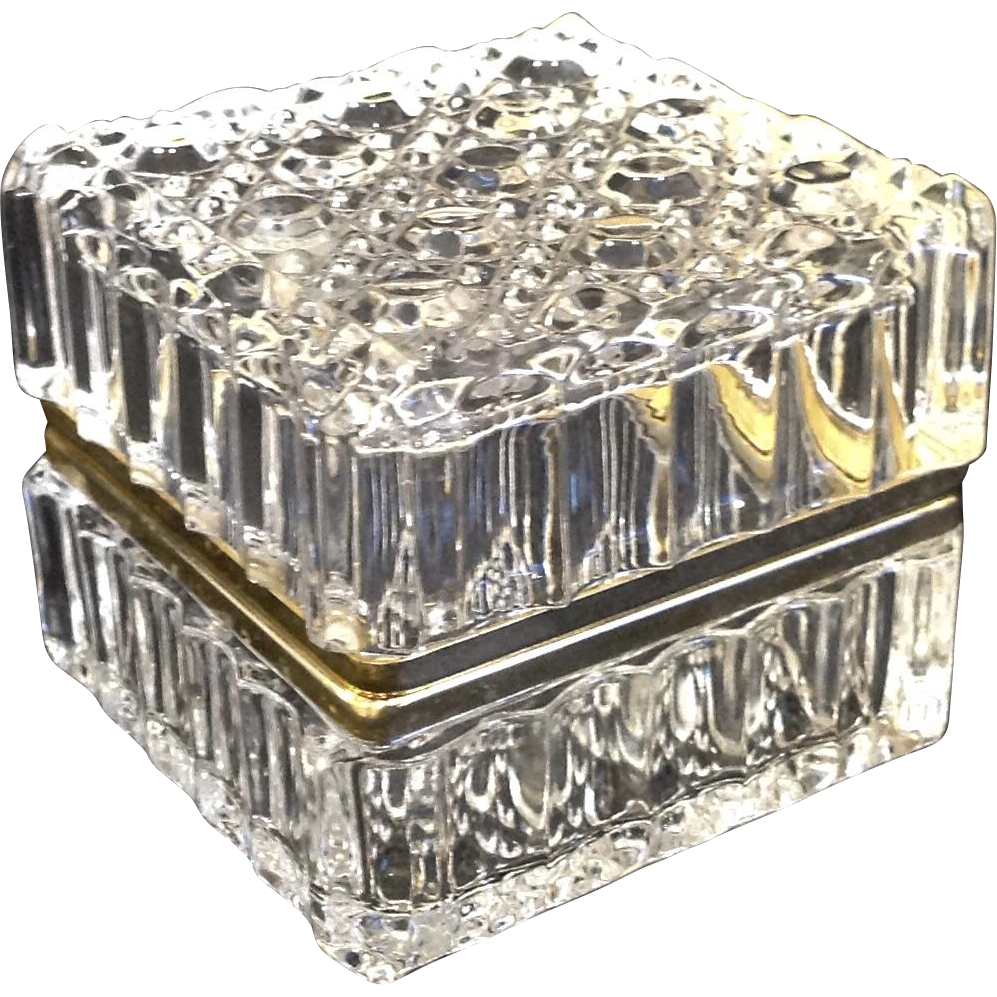 Lovely Crystal Jewelry Casket