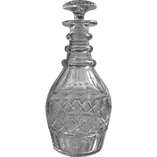 Superb c.1800 American Cut Glass Decanter