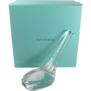 Tiffany & Co Crystal Golf Paperweight