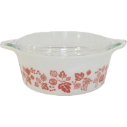 Pyrex Gooseberry 1 1/2 Pt Casserole with Lid