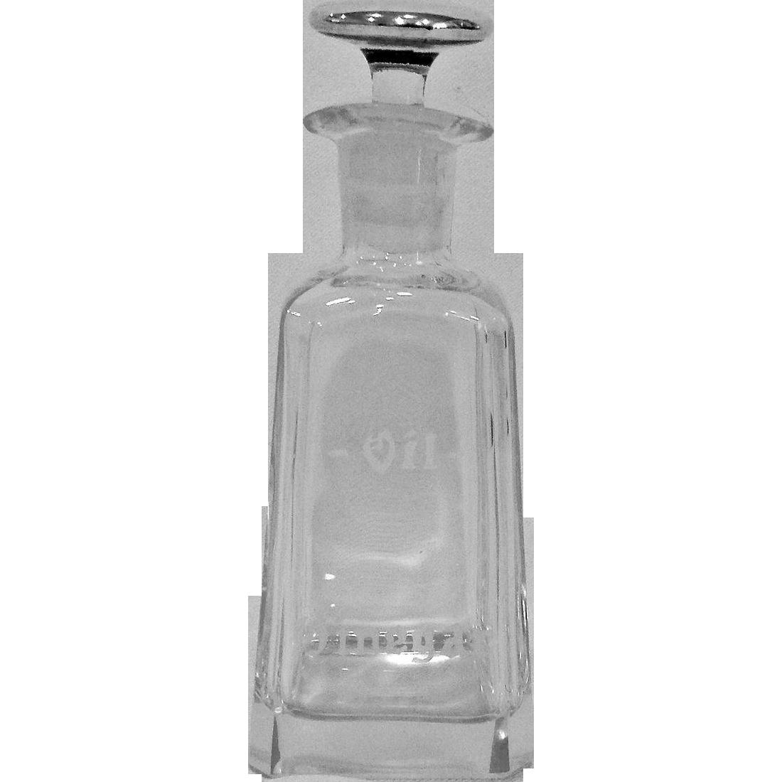 Sterling Top Oil and Vinegar Cruet
