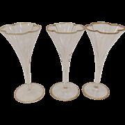 3 Lobmeyr Quatrefoil Cordial Glasses