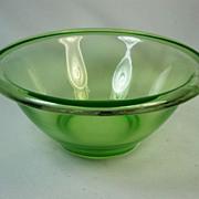 "Hocking Green Depression Glass 7 3/4"" Mixing Bowl"