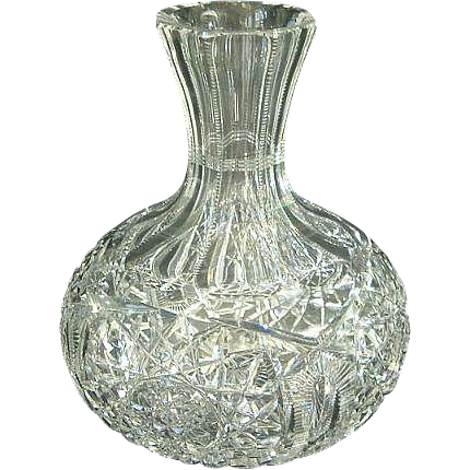 American Brilliant Period Glass Pairpoint Nevada Decanter Carafe