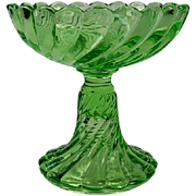 Baccarat Bambous Tors Green Champagne Glass