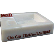 Pre-War Opalex French Line Cie Gle Transatlantique Ocean Liner Ashtray