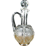 New Martinsville Radiance Decanter with Trumpet Etch