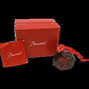 Baccarat Red Diamond Christmas Ornament