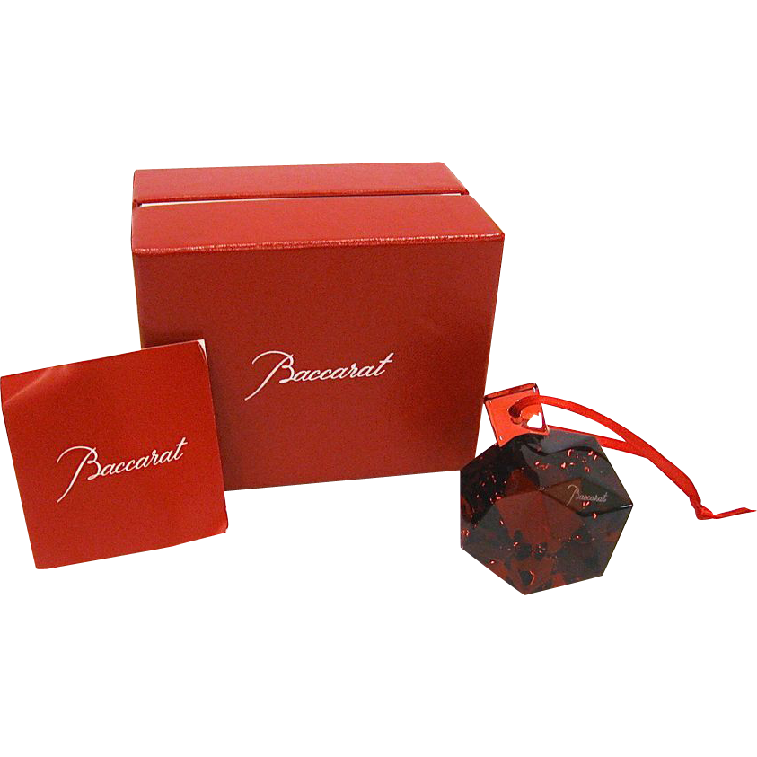 Baccarat Red Diamond Christmas Ornament