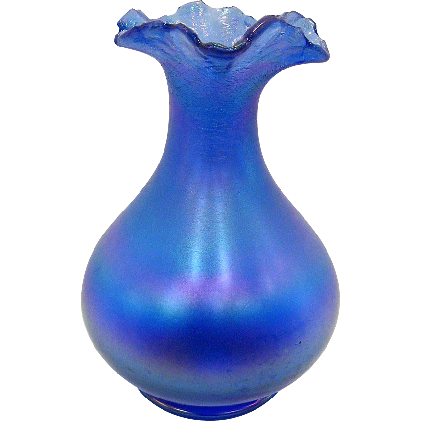 gl vase with silver base with Signed Poschinger Blue Iridescent Bulbous Vase on Pair Antique French Empire Baccarat Crystal moreover Outstanding Antique French Rose Glass Vase additionally Outstanding Victorian Rubina Verde Vaseline Opalescent further Fenton Black Rose Hand Vase further Mid Century Viking Epic Bluenique 3.