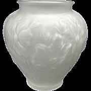 1920s Tiffin Poppies Satin Glass Vase