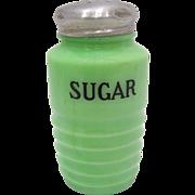 Jeannette Glass Jadite Sugar Shaker