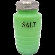 Jeannette Glass Jadite Salt Shaker