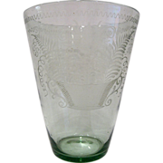Large Flip Glass Vase, Tulip & Basket, Stiegel Type