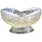 Northwood Argonaut Shell Opalescent Oval Footed Dish