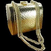 Walborg Gold Mini Doctor Bag Evening Purse