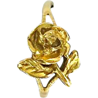Vintage 14K Gold Rose Ring