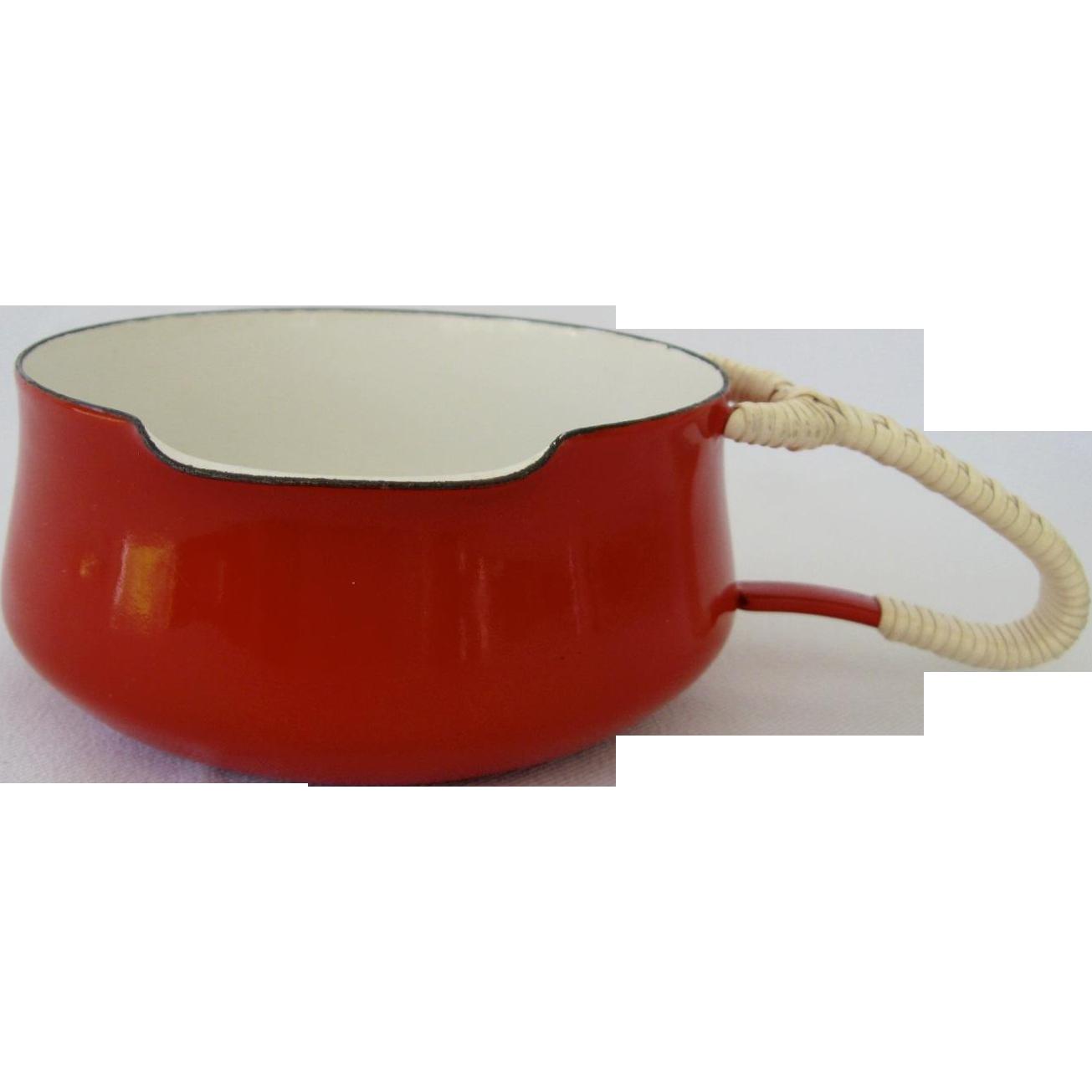 Dansk Kobenstyle Red Sauce Pan IHQ Mid Century Modern
