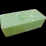 Vintage Jadeite Oblong Refrigerator Dish