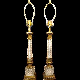 Pair Vintage Hollywood Regency Table Lamps