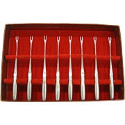 Vintage Mid Century Modern Kalmar Stainless Cocktail Forks