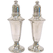 Vintage Empire Polished Pewter Salt & Pepper Shakers