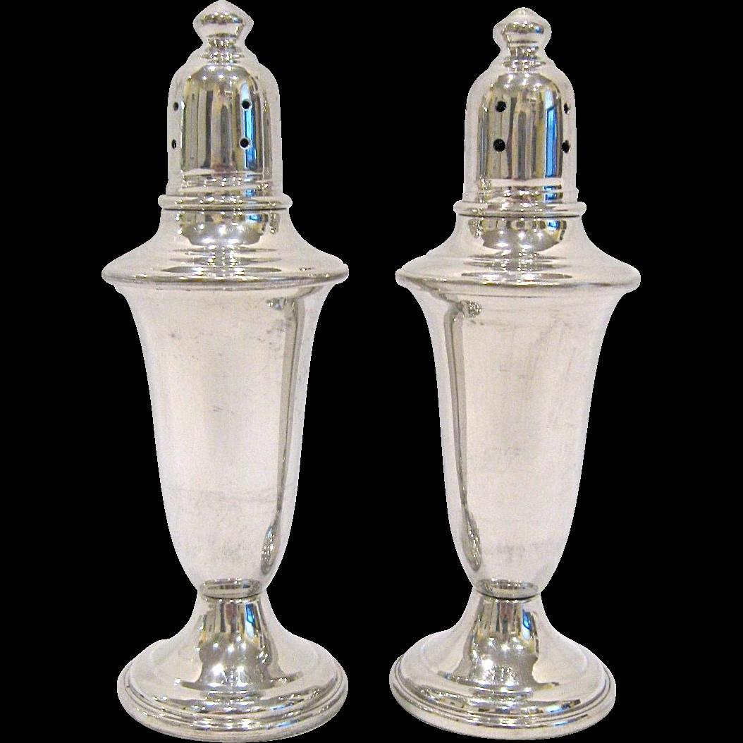 Vintage Empire Polished Pewter Salt & Pepper Shakers