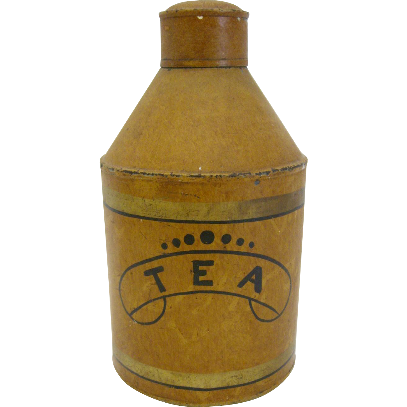 Antique Tole Tea Caddy