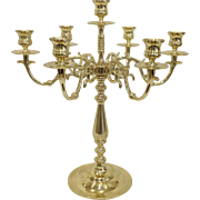 Large Baldwin Brass 7 Light Candelabra