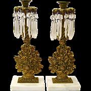 Pair of Gilt Brass Girandoles