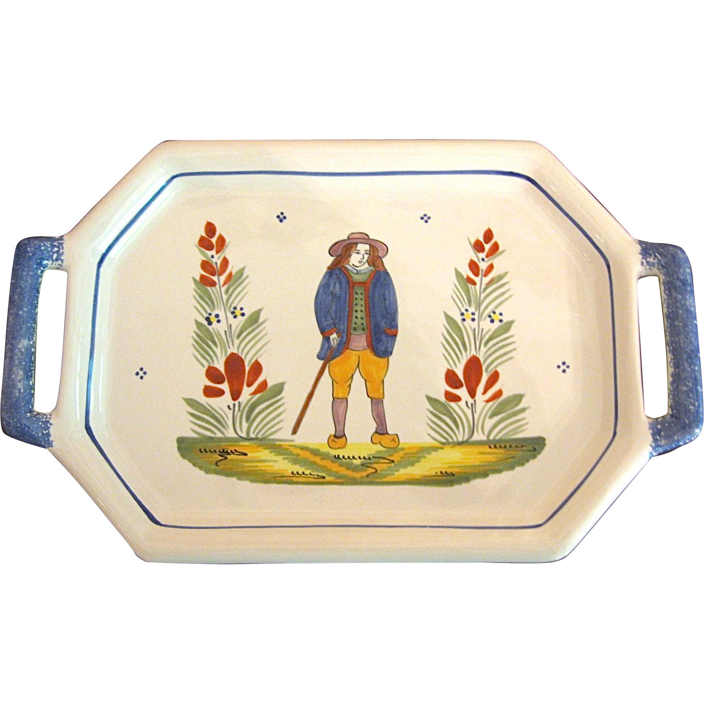 Henriot Quimper Serving Tray