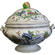 Antique Rouen Sarreguemines  Tureen Soupiere