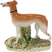 Antique Staffordshire Dog Whippet Greyhound