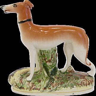 Antique Staffordshire Dog Whippet Greyhound