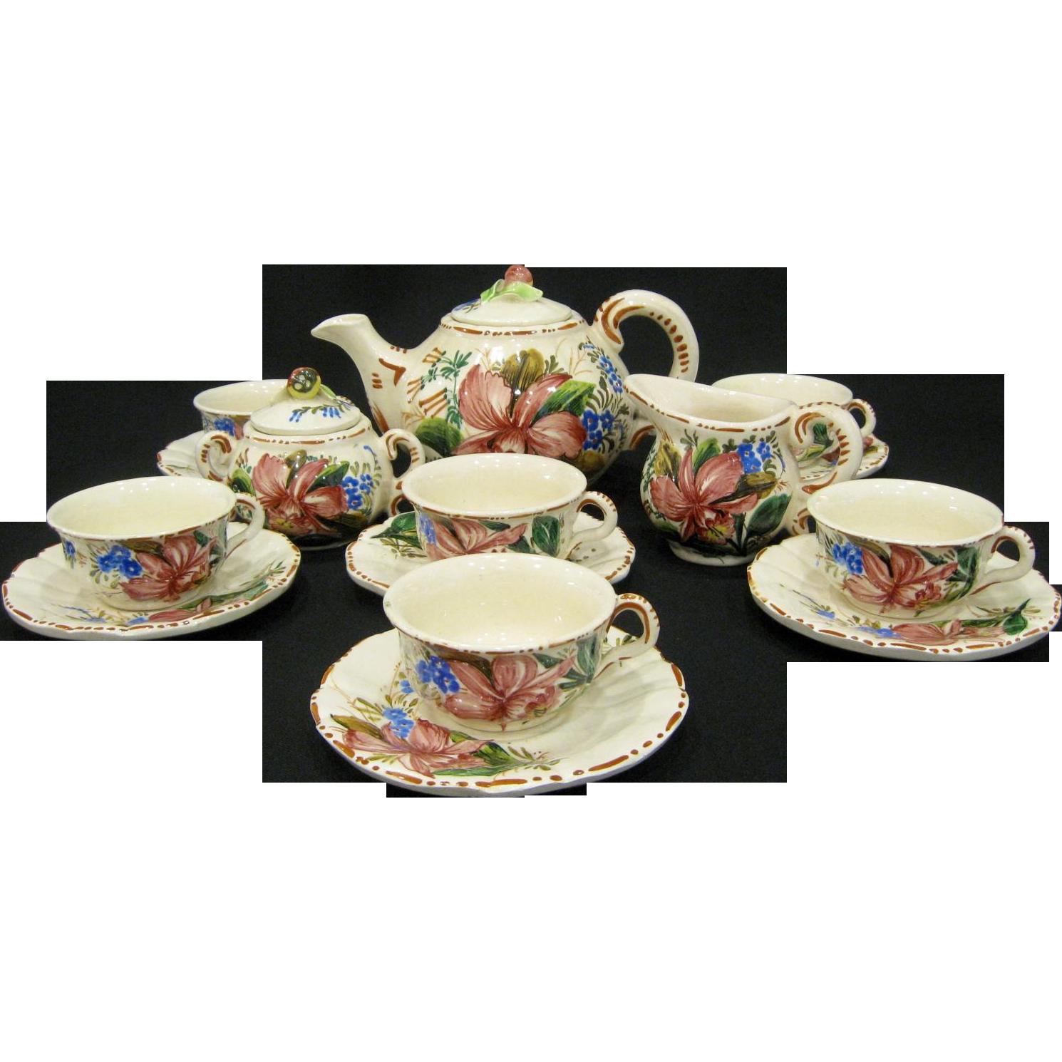 Vintage Italy Nove Tea Expresso Set
