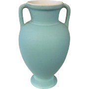 Vintage Coors Pottery Turquoise Double Handle Vase