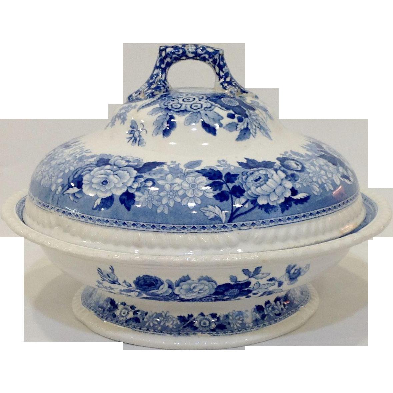 Spode's Imperial Blue Flower Tureen c. 1825