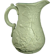 Antique 1850's Dudson Relief Molded Botanic Pitcher, Signed