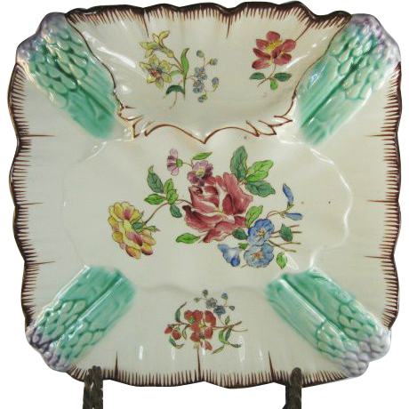 Longchamp French Majolica Asparagus Plate