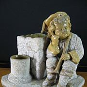 Bloch Majolica Figural Smoke Set - Antique Austria