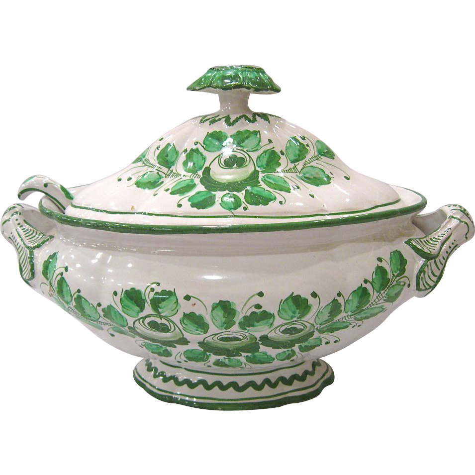 Vintage Large Italian Tureen with Ladle