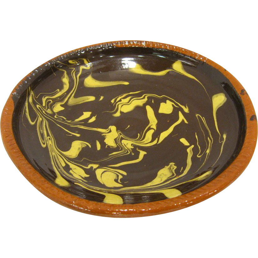 Historic Williamsburg Slipware Dish