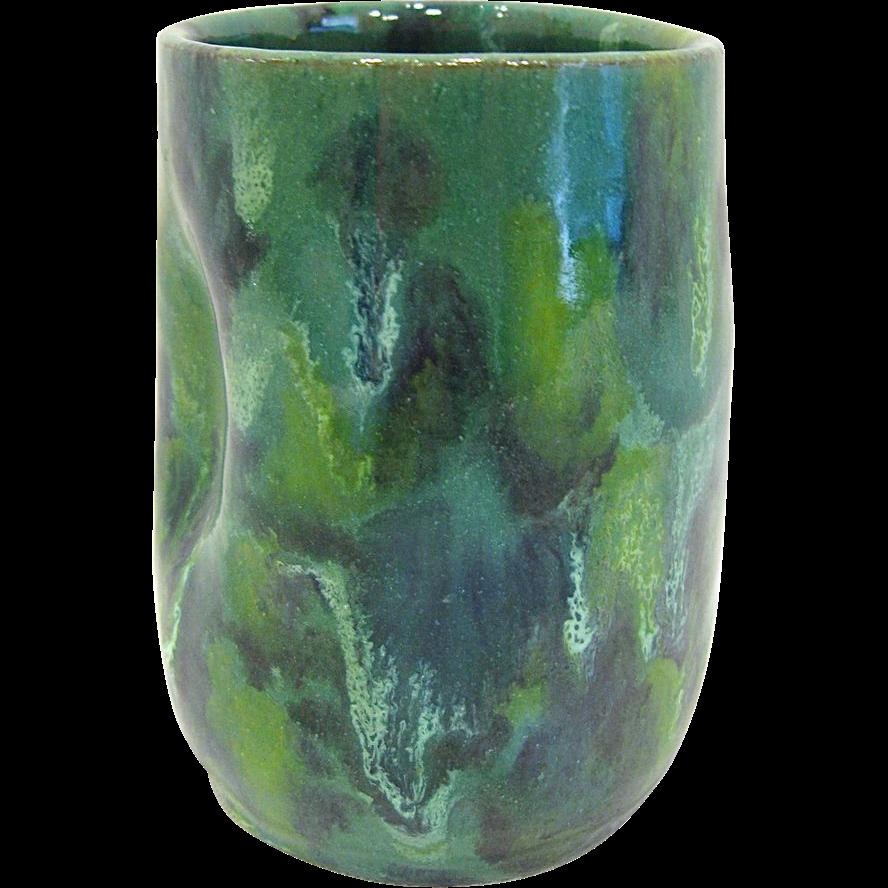 Signed Celia Cole NC Pottery Pinch Tumbler
