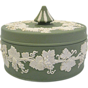 Wedgwood Jasperware Round Box in Sage Green